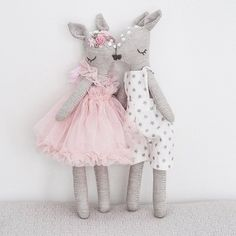 💕💕💕 . . . . . . . . . . . . #handmade #clothdoll #fabricdoll #sewing #sewingforkids #diy #toy #doll #bambi #fawn #couple #love #kidsroom #kidsroominspo #embroidery #itsetehty #kankainen #nukke #lastenhuone #ompelu #kirjonta #lelu #tehtyrakkaudella