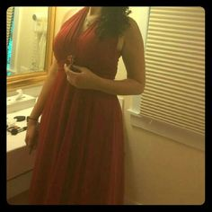 Dress Red Dress EUC worn once for a wedding.  Size says medium would be a 10-12. Dresses Wedding