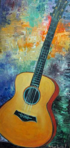 Abstract Guitar by Barbara Haviland
