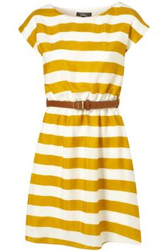 Adorable Yellow Striped Dress from TopShop