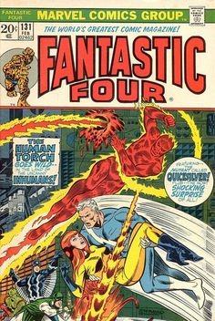 Fantastic Four February Vol 1 No 131 Bronze Age of Comics. (I currently have two Fantastic Four Comic Books in shop, sold separately, check shop, can combine shipping) Ships First Class Mail to USA and beyond. Comic Book Artists, Comic Book Characters, Comic Character, Character Design, Jack Kirby, Marvel Comic Books, Comic Books Art, Comic Art, Stan Lee