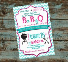 Couples Baby Shower Invitation Baby BBQ by SweetSimplySouthern