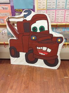 Mater from 'Cars' - prop for school play with small, battery powered led lights!