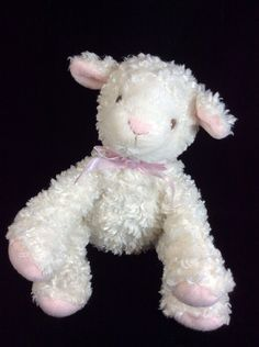 "Koala Baby Cream Lamb Plush Soft Toy 6"" Sewn Eyes Lovey #KoalaBaby"
