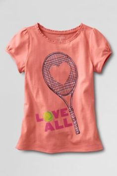 Toddler Girls' Short Sleeve Love Tennis Graphic T-shirt from Lands' End I want this for my future daughter!!