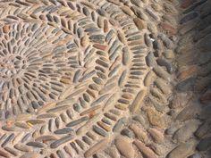 Stone Mosaic in Girona, Spain