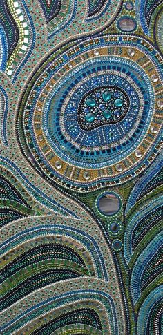 mosaic in blues