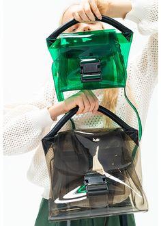 Clear Handbags, Black Handbags, Leather Handbags, Leather Bag, Fashion Souls, Fashion Bags, Costume Bags, Summer Bags, Everyday Bag