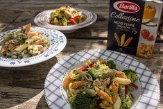 Τρεις Υπεροχες Τονοσαλατες με Πεννες Τρικολορε Salad Bar, Penne, Pasta Salad, Seafood, Meat, Chicken, Cooking, Recipes, Salads