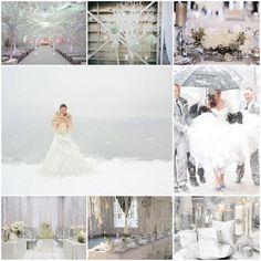 Mon mariage hivernal se pare d'une blancheur pure et délicate - Mariage.com
