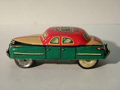 Fantastic Vintage 1954 King Sedan Japan Tin Friction