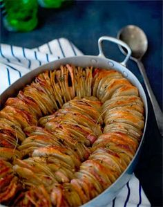 wonderful potato dish.  slice them thin, massive amounts of fresh herbs, cranberries, olive oil, salt - bake until golden brown
