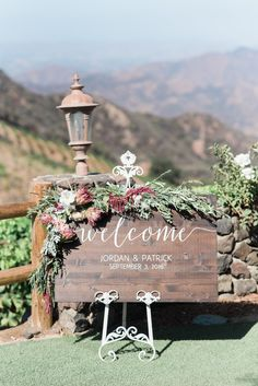 Jordan Marie Brennan- Saddle Rock Ranch Wedding- Malibu, CA Welcome Sign: Flowers: Fall Wedding, Rustic Wedding, Dream Wedding, Wedding Ideas, Wedding Welcome Signs, Wedding Signs, Best Day Ever, Happily Ever After, Special Day