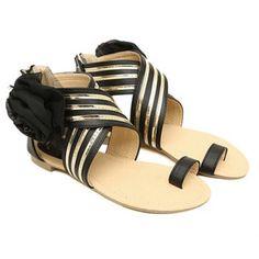 Cheap Wholesale New Arrival Flower and Zipper Design Flat Sandals For Women (BLACK,39) At Price 20.02 - DressLily.com