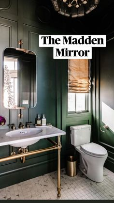Green Traditional Bathrooms, Dark Green Bathrooms, Dark Green Rooms, Small Dark Bathroom, Upstairs Bathrooms, Downstairs Bathroom, Master Bathroom, Townhouse Designs, Powder Room Design