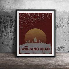 Movie poster printThe Walking Dead-alternative by OandBstudios