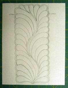 Nice tutorial for free-motion quilting feathers  source:  Sue Garman