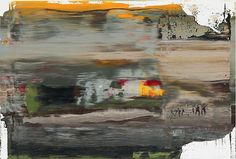 Gerhard Richter Abstract Painting (894-1), 2005, 11 3/4 x 17 3/8 in. ( 30 x 44 cm ) Image