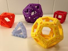 Polyhedra - Hinged Nets and Snap Tiles by mathgrrl - Thingiverse