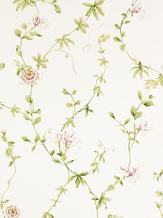 Buy Sanderson Wallpaper, Passion Flower DPEMPF102, Red online at JohnLewis.com - John Lewis