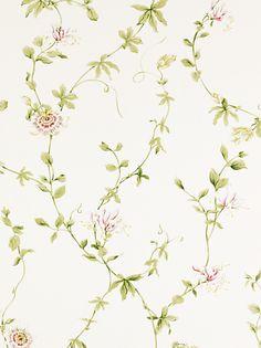 Buy Sanderson Wallpaper, Passion Flower DPEMPF102, Red online at JohnLewis.com - John Lewis