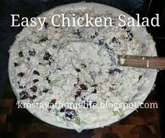 The Stay-at-Home Life: Cooking with M: Easy Chicken Salad