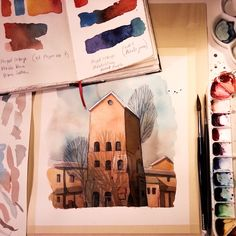 Doing some experiments and also filming for my YouTube channel #wip #watercolor…