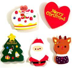 Kawaii Die-Cut Christmas Cards Set: Reindeer