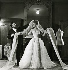 Willy Maywald, Christian Bérard and Edwige Feuillère, fitting for L'Aigle à deux têtes, 1946