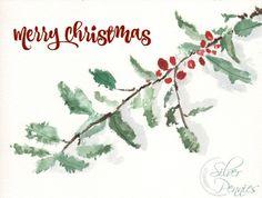 Merry Christmas Watercolor Free Printable