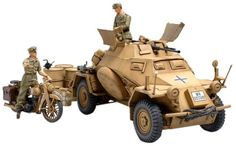 Pre-Built Model Ground Vehicles - Sdkfz222 Leichter Panzerspahwagen  Afrikakorps  135 Scale Military  * Continue to the product at the image link.