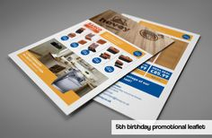Promotional leaflet with offers to celebrate the 5th birthday of the Timber branch at Hevey Building Supplies