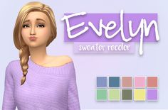 lilsimsie Evelyn Sweater Recolor