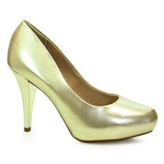 sapatos scarpin dourado 6
