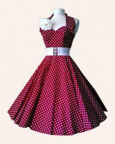 halterneck polka dot dress from vivien of holloway dresses. Vintage Outfits, 50s Outfits, Vintage Style Dresses, Fashion Outfits, 1950s Fashion Dresses, Retro Fashion, Vintage Fashion, 1950s Dresses, 1950s Style
