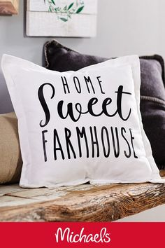 Make This Farmhouse Pillow Project It Is A Cute DIY Home Decor Craft That  Will Match Any Farmhouse Theme.