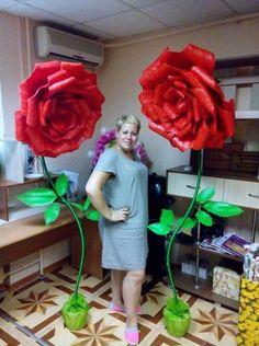 Большие цветы из изолона - Большие цветы - Сообщество декораторов текстилем и флористов