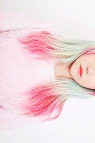 Dip dye hair! cute