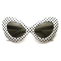 White Black Polka Dots