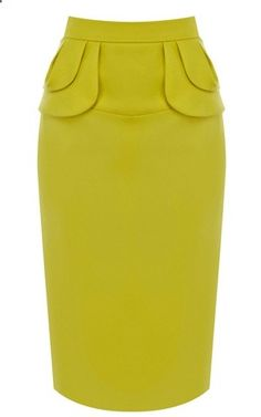 Karen Millen Yellow Pencil Skirt - shop this look for less and stand out this summer 2018 with a wardrobe to die for Dope Outfits, Skirt Outfits, Dress Skirt, Midi Skirt, Rosa Rock, Business Attire, Karen Millen, Mode Inspiration, Work Attire
