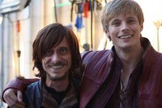 Mackenzie Crook and Bradley James - merlin-on-bbc Photo