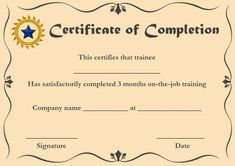 Certificate Of Completion: 22 Templates In Word Format with regard to Premarital Counseling Certificate Of Completion Template - Best & Professional Templates Ideas Graduation Certificate Template, Certificate Of Completion Template, Free Certificate Templates, Free Certificates, Certificate Design, Name Signature, Student Loan Repayment, Training Certificate, Premarital Counseling