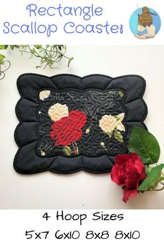 Such a versatile design - add your own fabric to make your own unique Coasters #machineembroidery #inthehoop