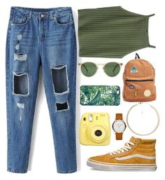 """Sin título #395"" by qdorito ❤ liked on Polyvore featuring Vans, Oliver Peoples, Uncommon, Fujifilm, Marc Jacobs, Billabong and MANGO"