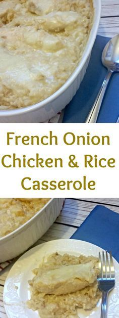 French Onion Chicken and Rice Casserole I Dinner Ideas I Easy Dinner I Chicken Recipe I Weeknight Dinner