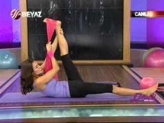 Ebru Şallı Zayıflama Egzersizleri ve Göbek Eritme Hareketleri-Yan Karın Simit İnceltme - YouTube