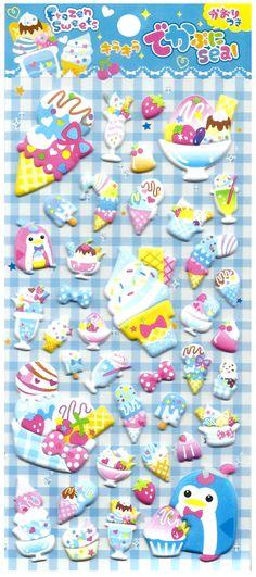 Frozen Sweets Penguin Ice Cream Jumbo Puffy Sticker Sheet