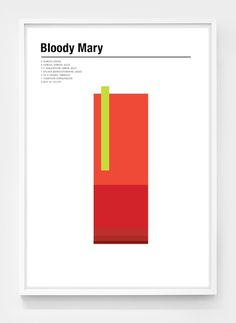 Check out this cool Bloody Mary design poster amongst many others. Famous Cocktails, Classic Cocktails, Bloody Mary, Corporate Design, Poster S, Poster Prints, Mad Men Characters, Museum Poster, Graphic Design Illustration