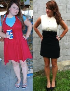this is MY before & after :D