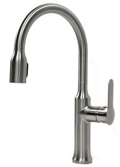 Roman Style Lead Free Brushed Nickel Kitchen Faucet